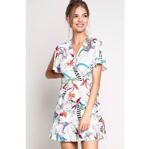 3 for $25 💐BRAND NEW 💐Tropical wrap dress